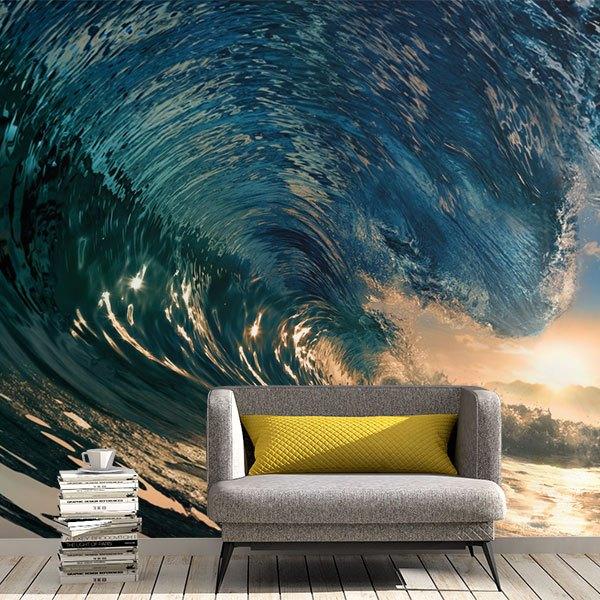 Fotomurales: Bajo la ola