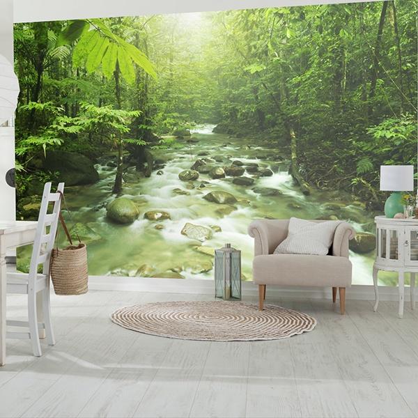 Fotomurales: Río de la selva