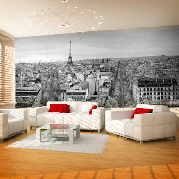 Fotomurales: Skyline de París en blanco y negro