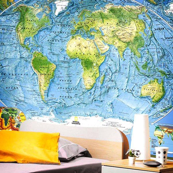 Fotomurales: Mapa fisico