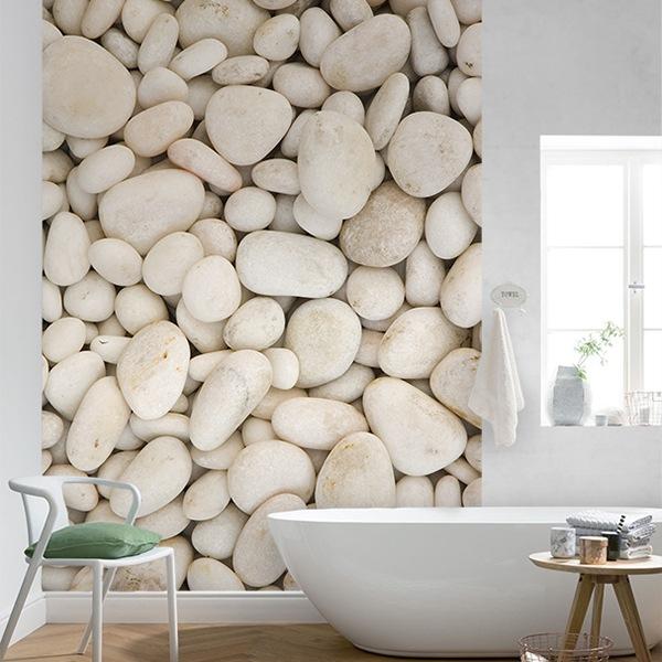 Fotomurales: Piedras blancas