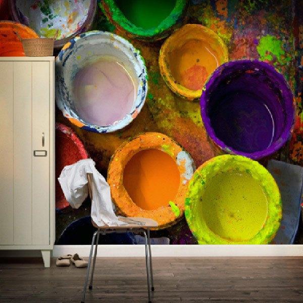 Fotomurales: Botes de pintura
