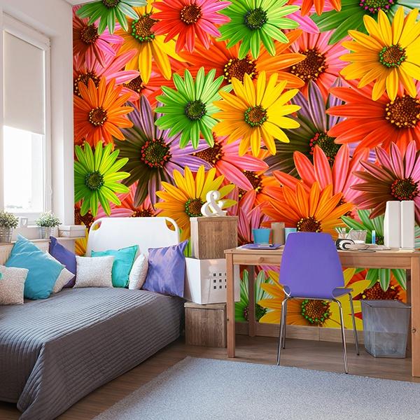 Fotomurales: Flores Pop