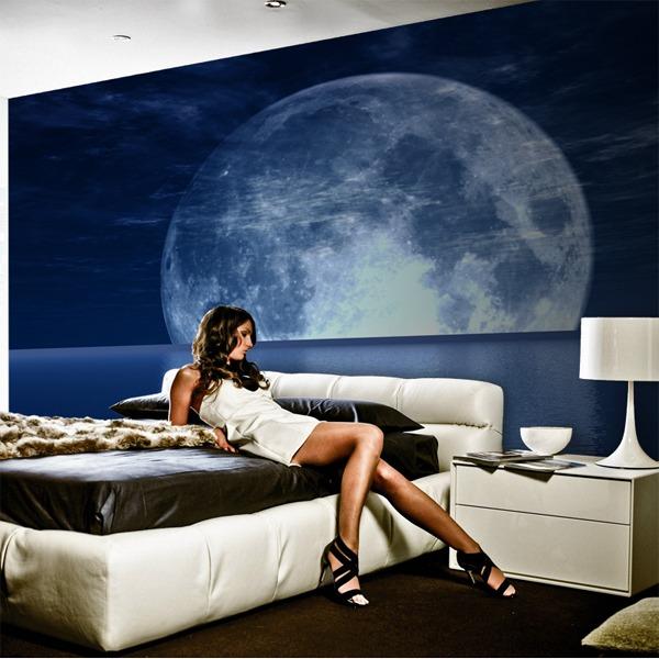 Fotomurales: Luna y mar
