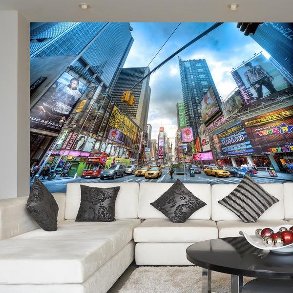 Fotomurales: Times Square HDR de día