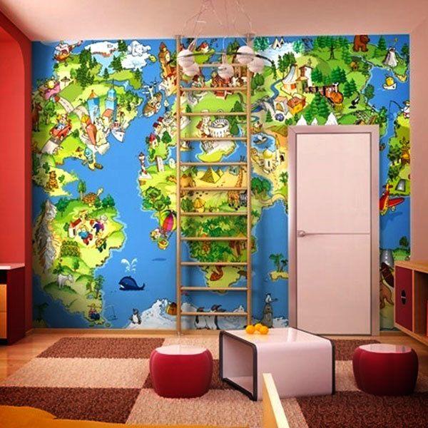 Fotomurales: Mapamundi Infantil