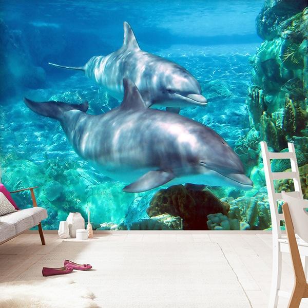 Fotomurales: Pareja de delfines