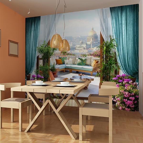 Fotomurales: Terraza en San Petersburgo