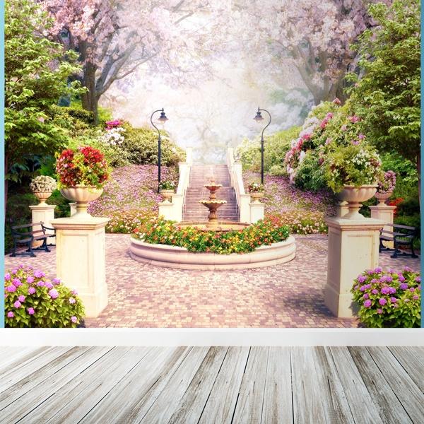Fotomurales: Fuente de flores
