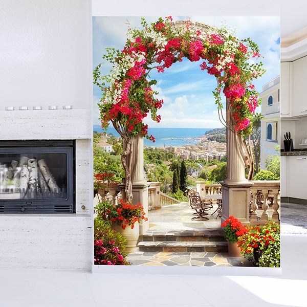 Fotomurales: Arco floral a la costa