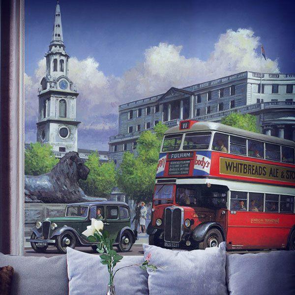 Fotomurales: Bus Londres