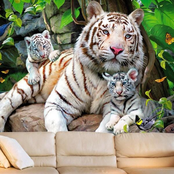 Fotomurales: Tigres Albinos