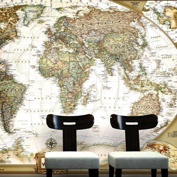 Fotomurales: Mapa Mundo Político 4