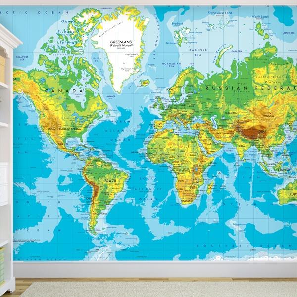 Fotomurales: Mapa Mundo 2