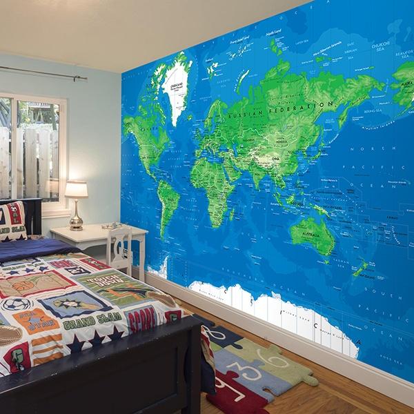 Fotomurales: Mapa Mundo 3