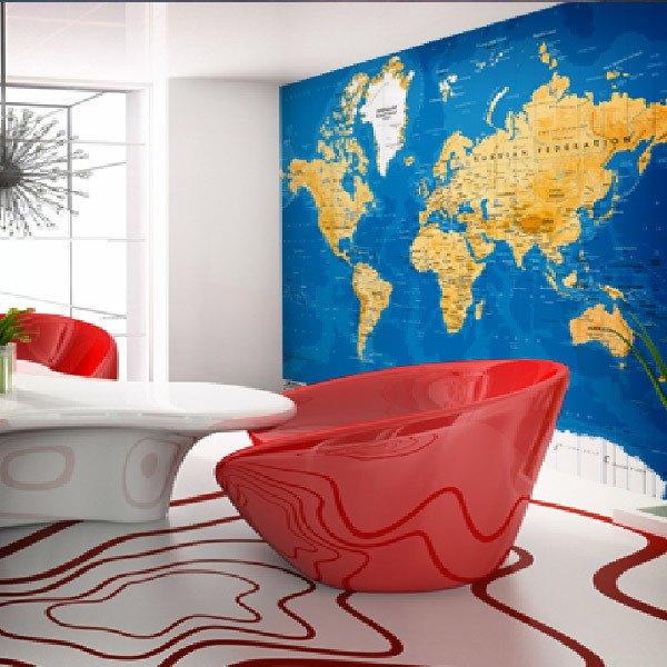Fotomurales: Mapa Mundo 4