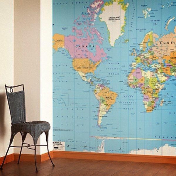 Fotomurales: Mapa Mundo Político 2