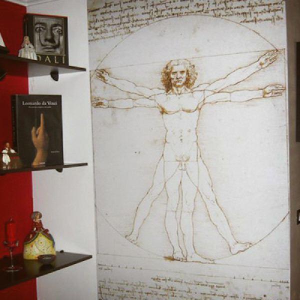 Fotomurales: Vitruvio_Da Vinci