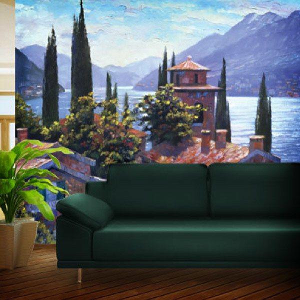 Fotomurales: Lago Lugano (Howard Beherens)