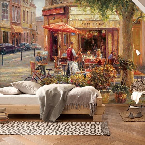Fotomurales: Cafe Corner, Paris (Haixia Liu)