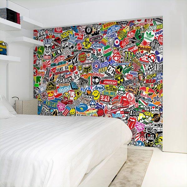 Fotomurales: StickerBomb mural