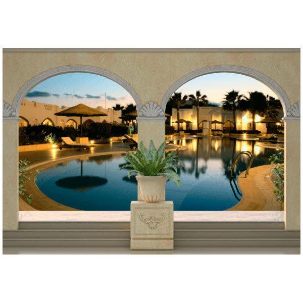 Fotomurales: Piscina en hotel de lujo