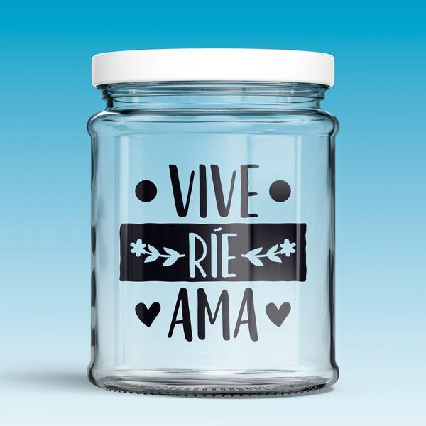 Vinilos Decorativos: Vive, ríe, ama