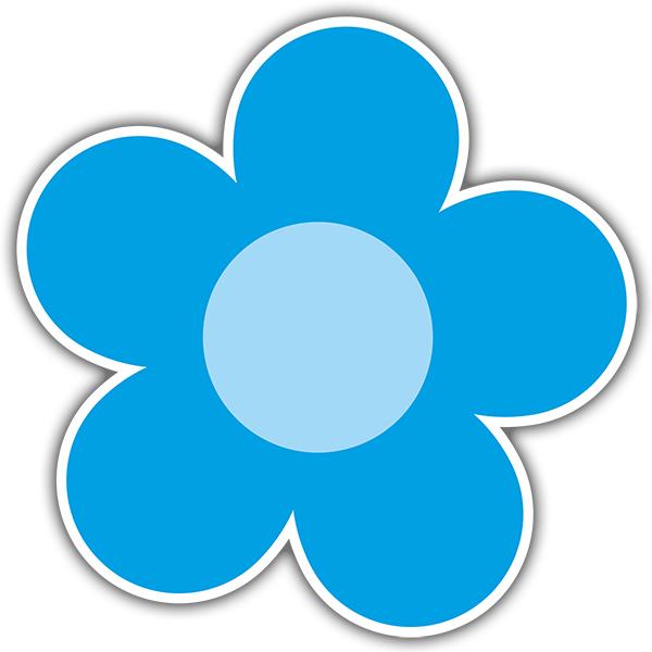 Vinilos Decorativos: Flor Azul