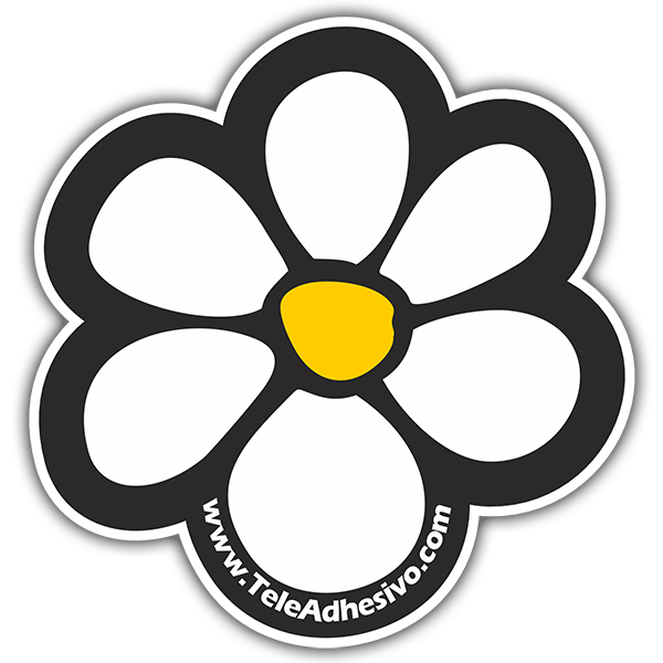 Vinilos Decorativos: Flor TeleAdhesivo