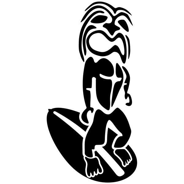 Vinilos Decorativos: Rasta Surfer