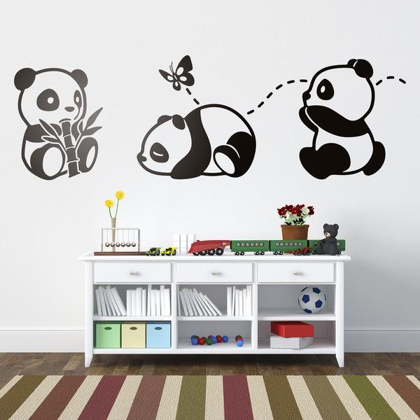 Vinilos Infantiles: Los tres Pandas