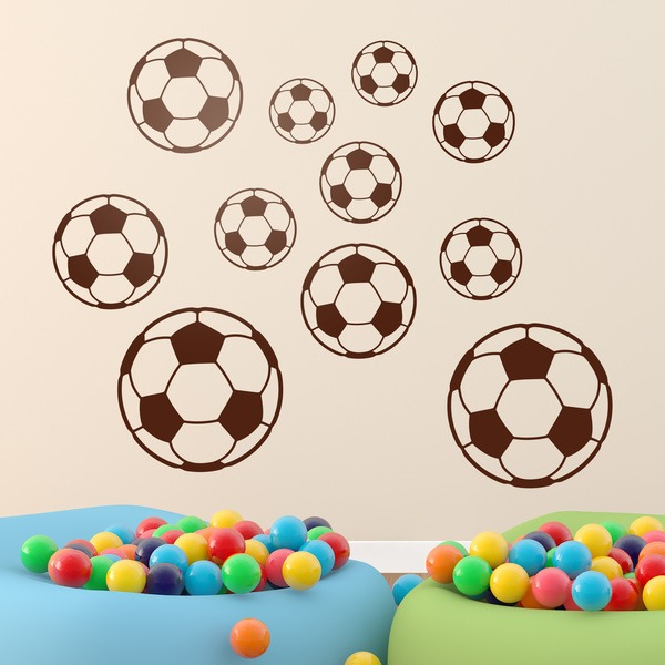 Vinilos Infantiles: Kit balones de fútbol