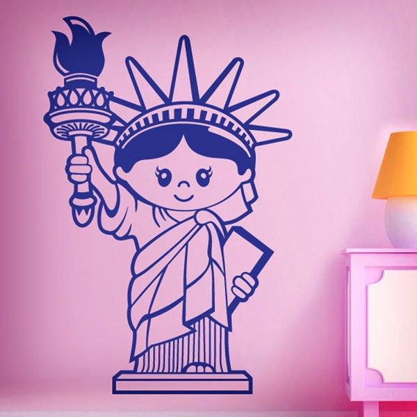 Vinilos Decorativos: Estatua de la Libertad (infantil)