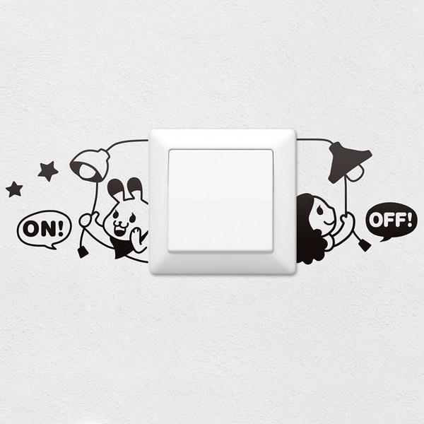 Vinilos para interruptores y enchufes teleadhesivo - Enchufes y interruptores ...