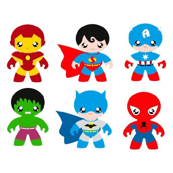 Vinilos Infantiles: Kit Héroes