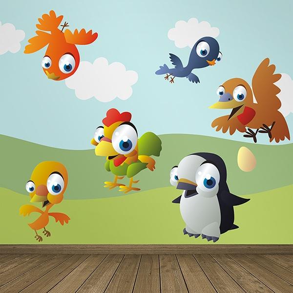 Vinilos Infantiles: Aves 2