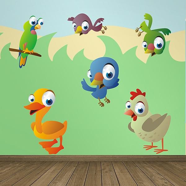 Vinilos Infantiles: Aves 9