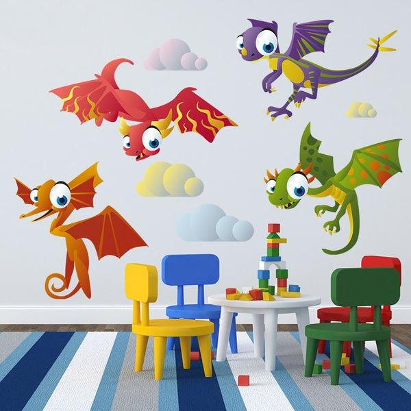 Vinilos Infantiles: Dinosaurios Voladores