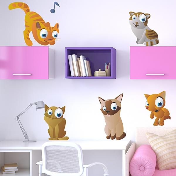 Vinilos Infantiles: Gatos 2