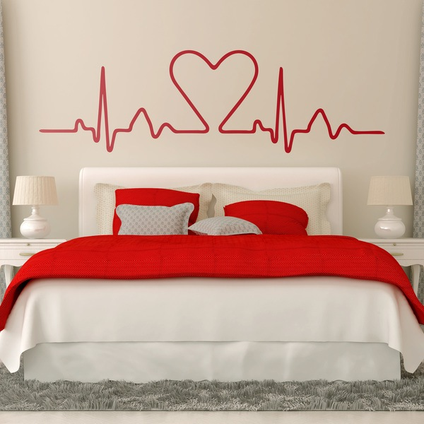Vinilos Decorativos: Electrocardiograma Corazón