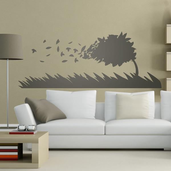 Vinilos Decorativos: Árbol doblado por el viento