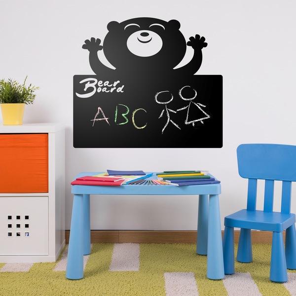 Vinilos Infantiles: oso pizarra