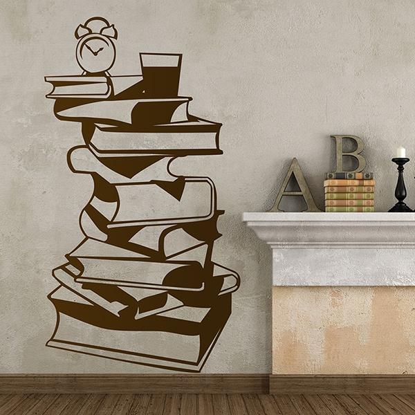 Vinilos Decorativos: Mesilla libros