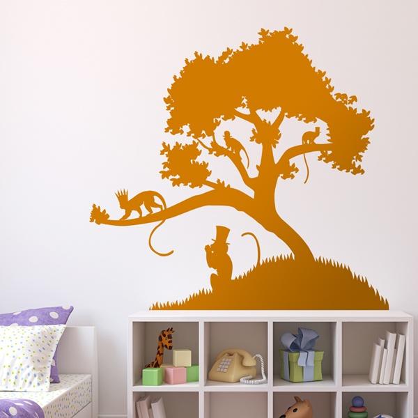 Vinilos Decorativos: Reyes monos sobre el árbol