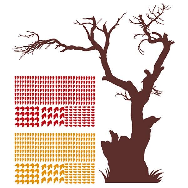 Vinilos Decorativos: Árbol perdiendo sus hojas