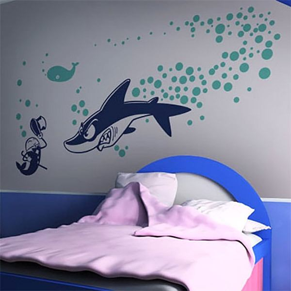 Vinilos Decorativos: Shark attack