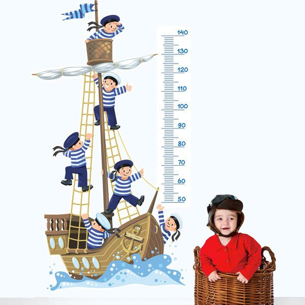 Vinilos Infantiles: Barco y grumetes