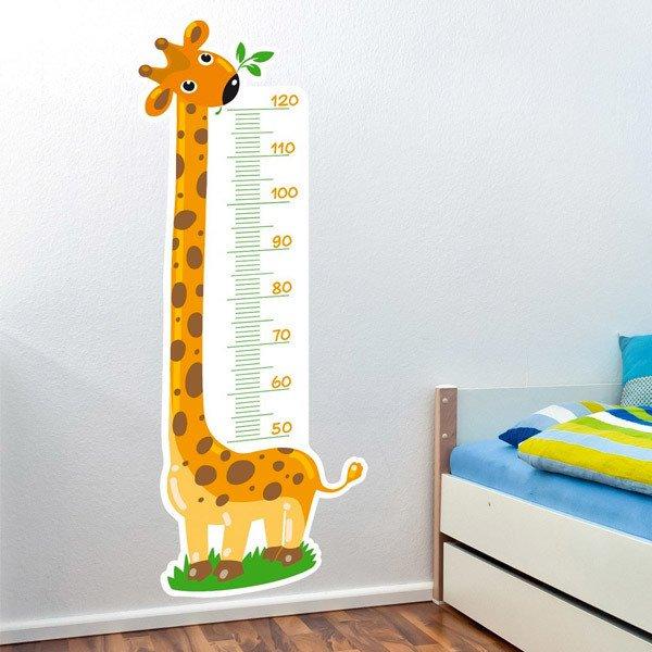 Vinilo infantil medidor jirafa 3 for Vinilos infantiles precios