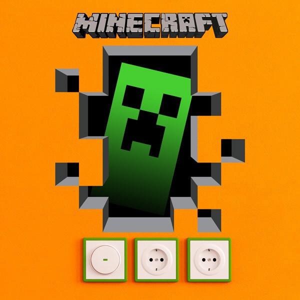 Vinilos Decorativos: Minecraft 3D 1