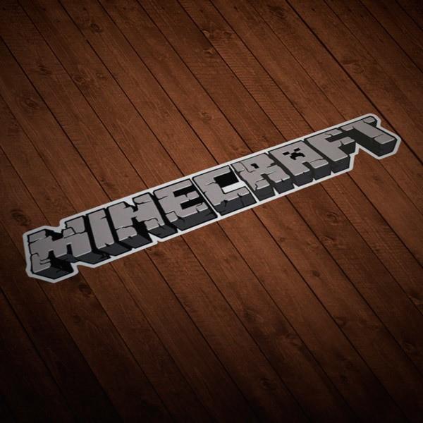 Vinilos Decorativos: Sticker Minecraft letras